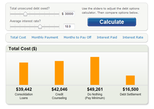 Debt Options Calculator